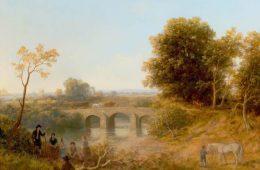 Pastoral Scene -Three Arched Bridge